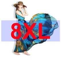 2016 New Women Peacock Summer Dress Plus Size Vintage Maxi Dresses Bohemian Floor Length Dress Vestidos De Fiesta 6XL7XL 8XL 9XL(China (Mainland))