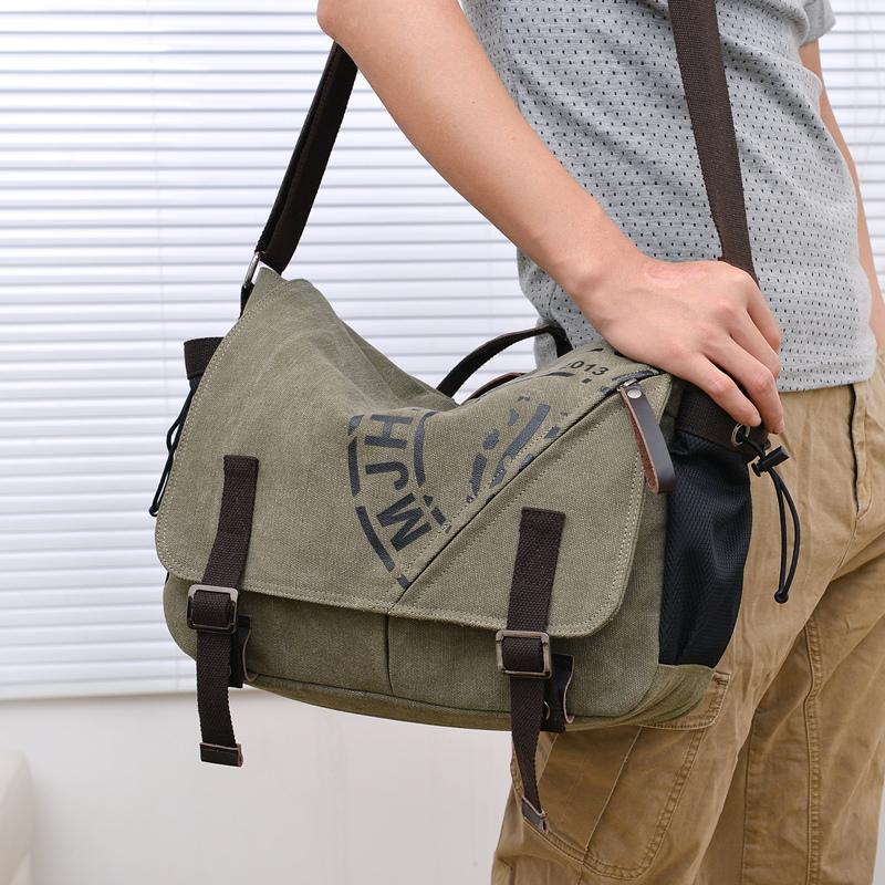 BUY AO fashion pattern brand canvas men's travel bag crossbody messenger bags vintage dress satchels with computer interlayer(China (Mainland))