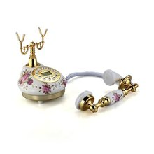Retro Vintage Antique Style Floral Ceramic Home Decor Desk Telephone Phone, IN STOCK, FREE SHIPPING