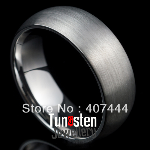 Free Shipping!Wholesales USA Hot Sales E&amp;C Jewelry Tungsten Ring Wedding Band All Brushed Surface Mens&amp;Womens Bridal Jewel<br><br>Aliexpress