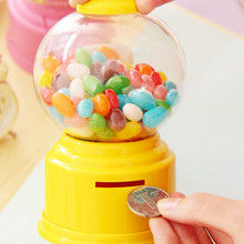 5color Cute Mini Twist Candy Machine Dispenser Plastic Jar Candy Machine Coin Money Storage Box Receive Case Toys Gift for Kids(China (Mainland))