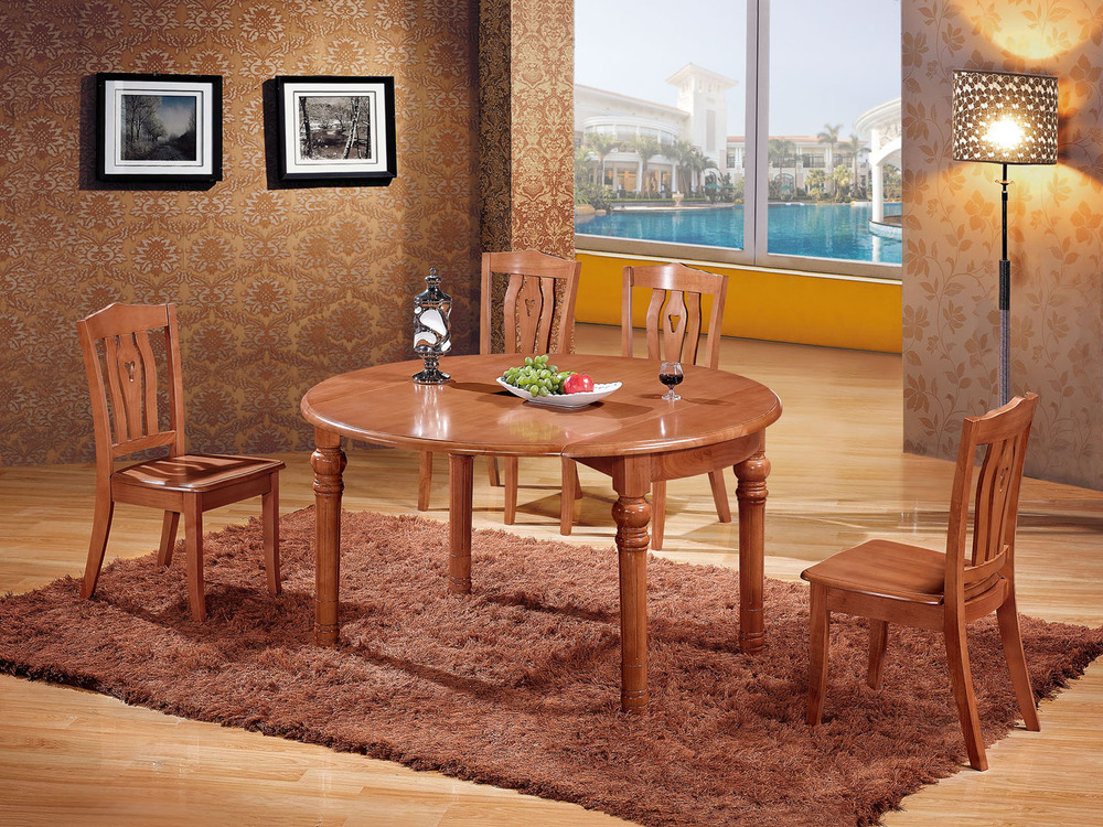 Factory direct oak dining tables and chairs with a for Oak dining room table