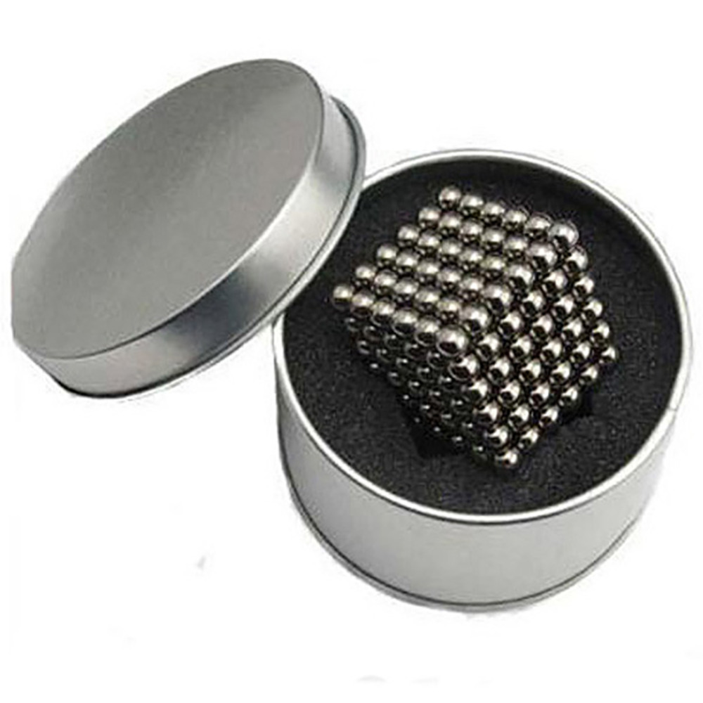 Hot Sale 5mm 216 pcs Puzzle Cube Toy Sphere Magnetic Balls 6*6*6 with Metal box Free Shipping(China (Mainland))
