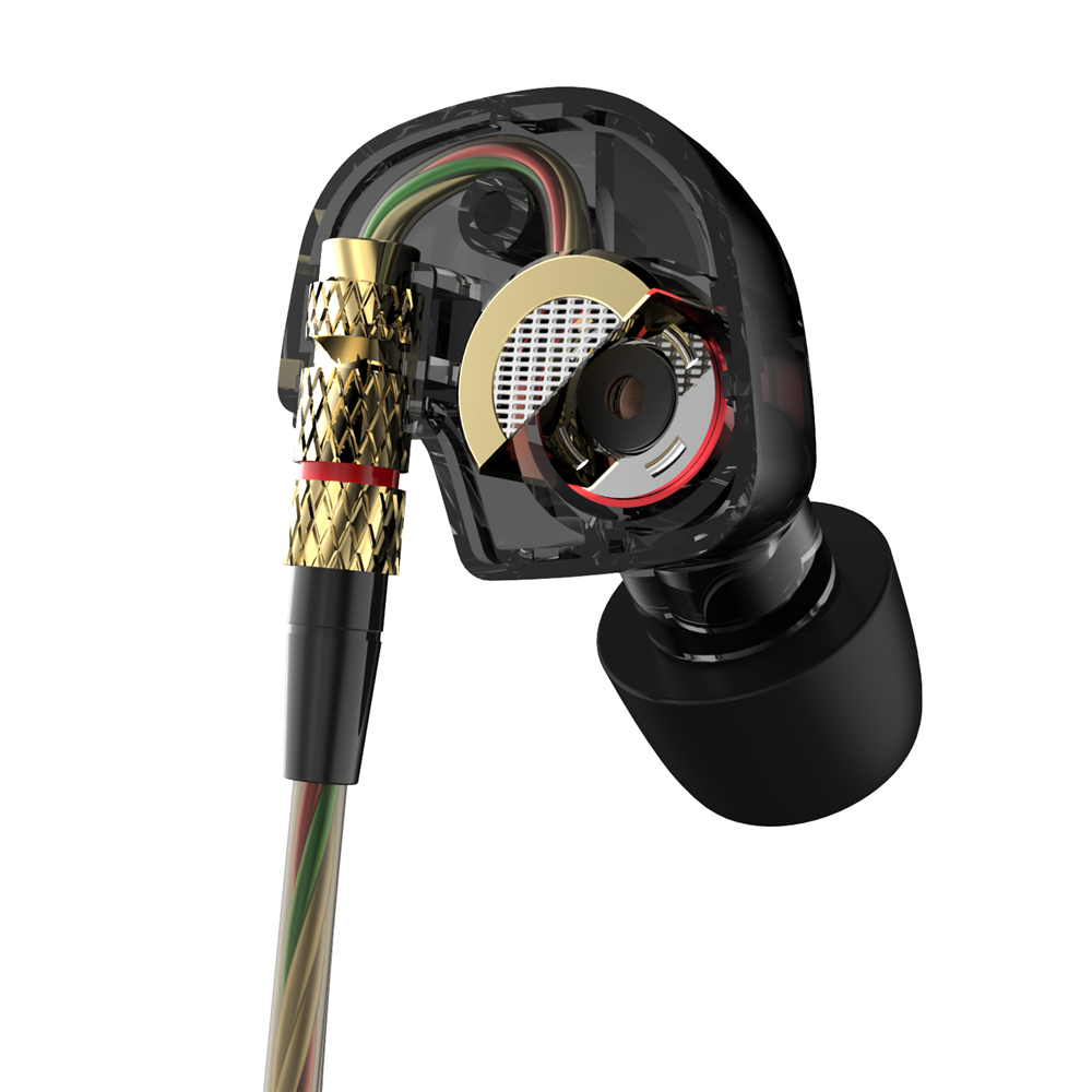 KZ ATE Latest Original Brand Super Bass In Ear Earphone Earbuds with Mic 3 5mm Hifi