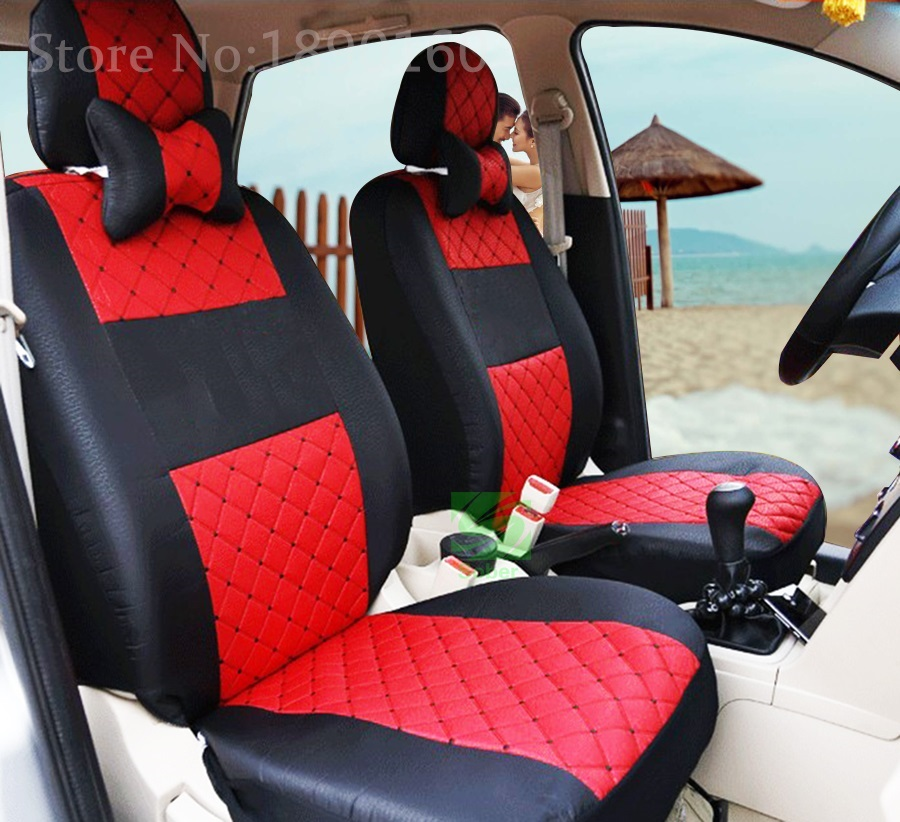 grey red black silk breathable embroidery logo car seat cover for citroen c quatre c elysee c1. Black Bedroom Furniture Sets. Home Design Ideas