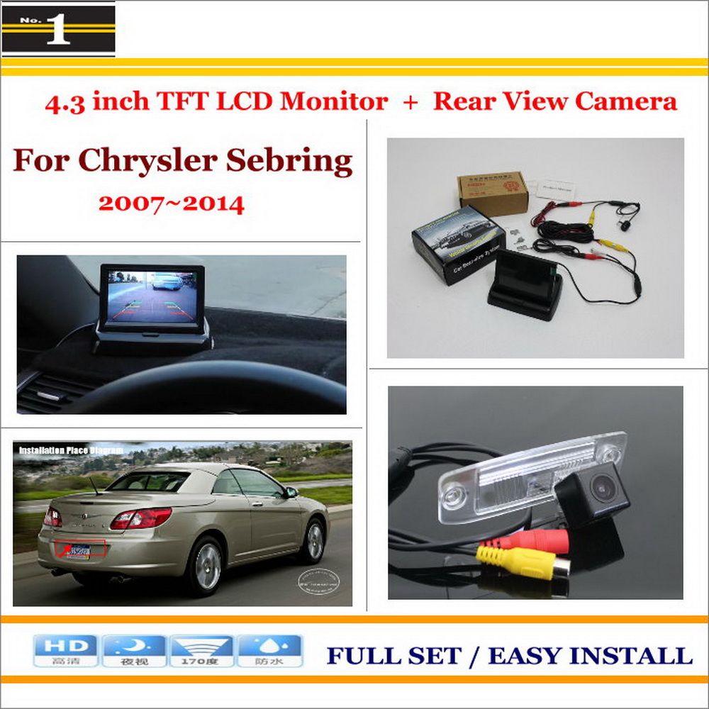 """Car Reverse Backup Rear Camera + 4.3"""" TFT LCD Screen Monitor = 2 in 1 Rearview Parking System - For Chrysler Sebring 2007~2014(China (Mainland))"""