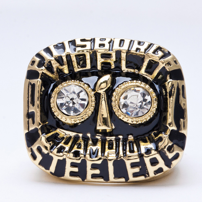 1975 American football Pittsburgh Steelers sale replica championship rings men jewelry Fast shipping STR0-278(China (Mainland))