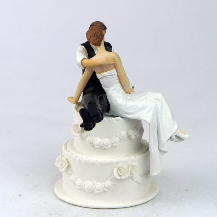 Wedding Cake Decorating Figurines : Wholesale 45pcs/LOT Resin Groom Figurines Gay Wedding ...