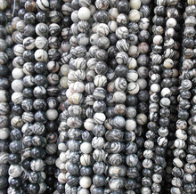 Buy AAA+ Black Network zebra Stripes Natural Stone Beads Jewelry Making DIY Bracelet Necklace 4mm 6mm 8mm 10mm 12mm Strand16'' for $1.14 in AliExpress store