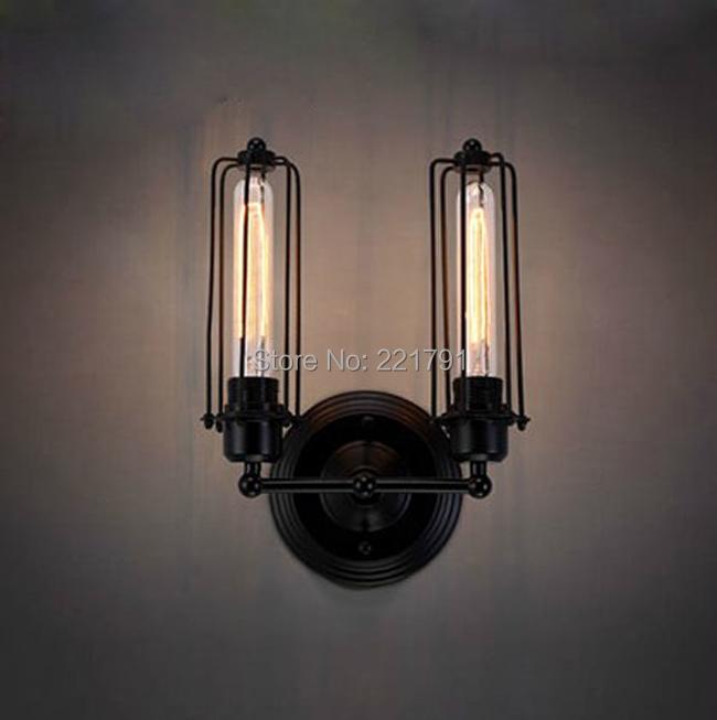 American loft wall lamp mechanical lamps reminisced double vintage E27 110V-220V
