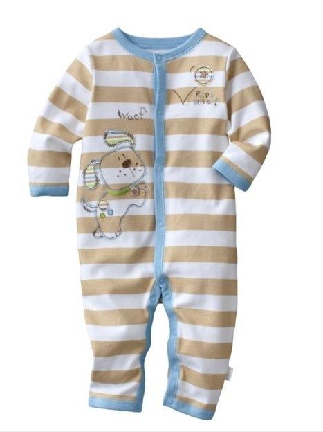 Высочайшее Качество Марка Baby Rompers Хлопок габаритные комбинезон Длинные Пижамы Ползунки 1 шт. Малышей ОДНИМ PIECES Одежда Для новорожденных 100% хлопок