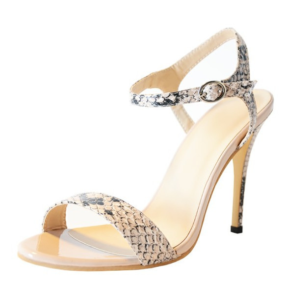 Custom-made Sneakskin Color Simple Women Sandals Thin High Heels Sandals Open Toe Summer Shoes 2015 Gladiator Jelly Sandals<br><br>Aliexpress