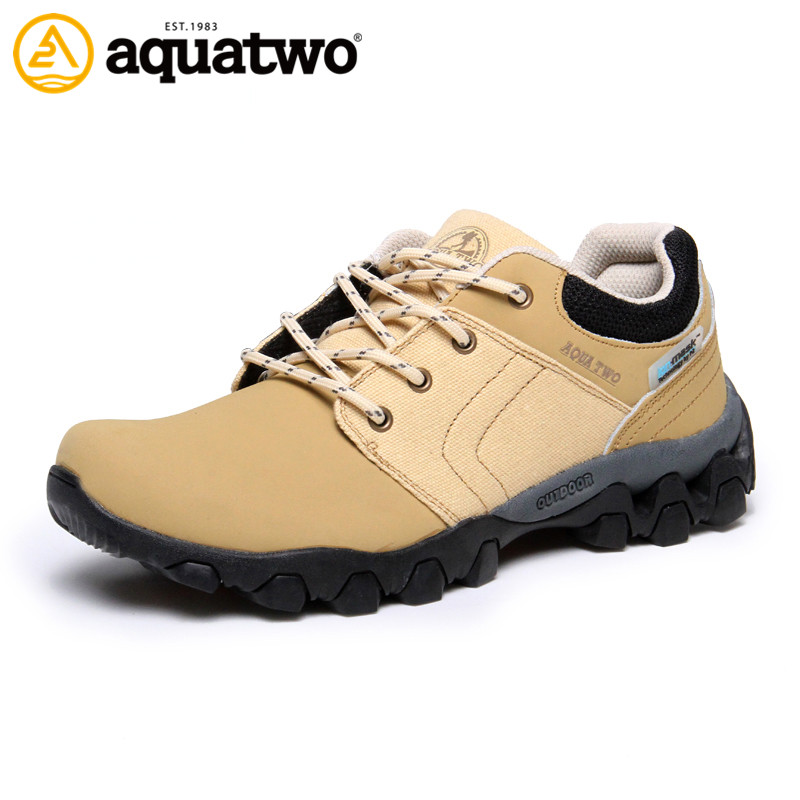 AQUATWO2016 Brand Action Leather Fashion Men Shoes Autumn Winter High Quality Outdoor Trekking Shoes US5.5-10# Leather Man Shoes<br>
