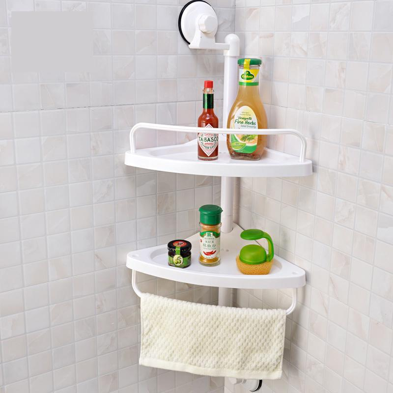 wall mounted type bathroom shelves shelf for bathroom sucker suction cup shelf double layer cupsful shelf(China (Mainland))