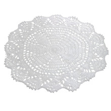 Modern style 25cm Vintage Style Floral Hand Crochet Handmade Cotton Beige Doily Cup Table Mat Doilies Crochet Placemat Coasters(China (Mainland))
