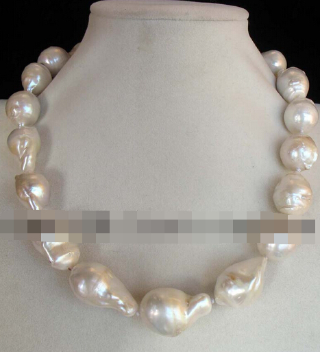 free shupping 08149 freshwater pearl white drop reborn keshi necklace 18<br><br>Aliexpress