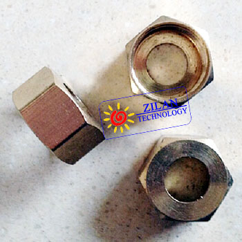 """3/4"""" brass nut for corrugated stainless steel pipe solar water heater solar collector pipeline(China (Mainland))"""