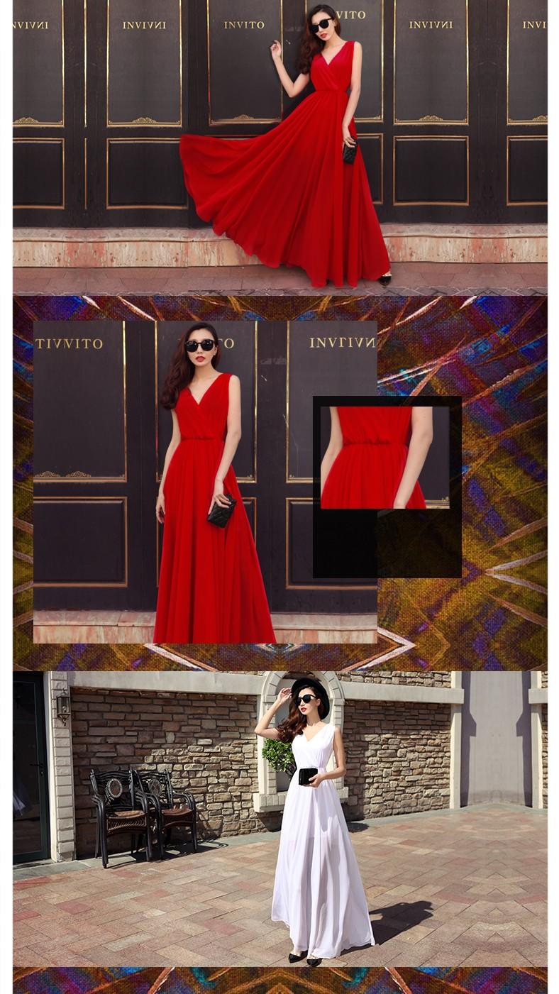 Summer Dress 2016 Women Red Dress Long Chiffon Dresses Summer Style Female Girl Boheminan Beach Dress Maxi