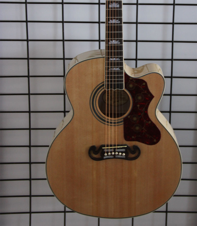 Free shipping NA cutway J200 acoustic guitar,most popular Jumbo guitar(China (Mainland))