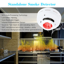 2015 High Sensitive Standalone Photoelectric Smoke Detector MCU Technology Fire Alarm Security System(China (Mainland))