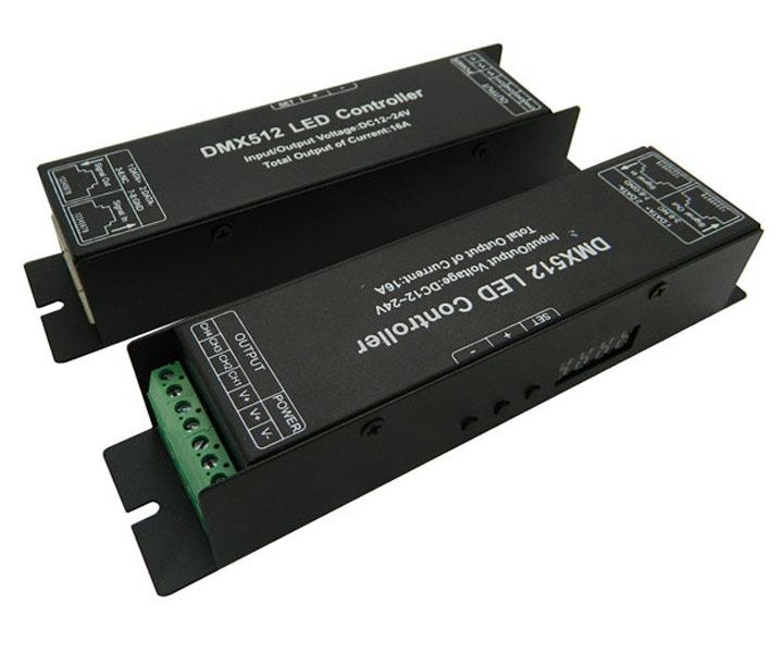 4channels LED RGBW Digital display Controller DMX 512 LED Decoder & Driver 12V DMX Controller(China (Mainland))
