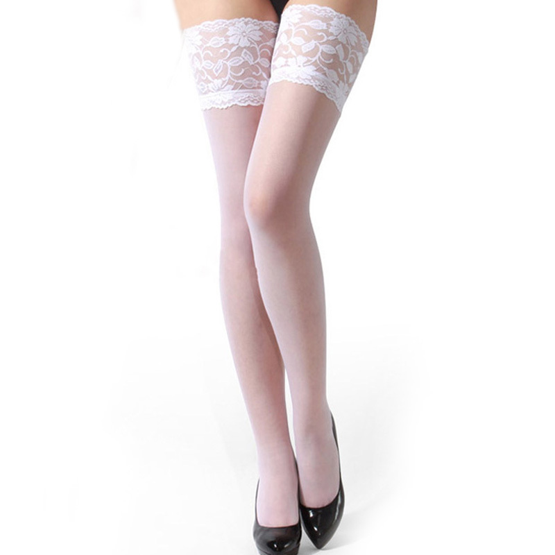Hot Sale Cheap Woman Sexy Stockings Sexy Woman Sheer Lace Top Thigh High In Stocking Hosiery