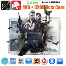 10 inch Tablet PC Octa Core 3G Phone Call 4GB RAM 32GB ROM Dual SIM Cards 1280*800 IPS HD Screen GPS 8 Cores tablets for Kids(China (Mainland))