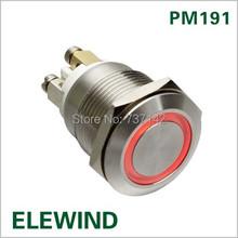 ELEWIND 19mm anillo iluminado pulsador 1NA (PM191F-10E/R/12 V/S)