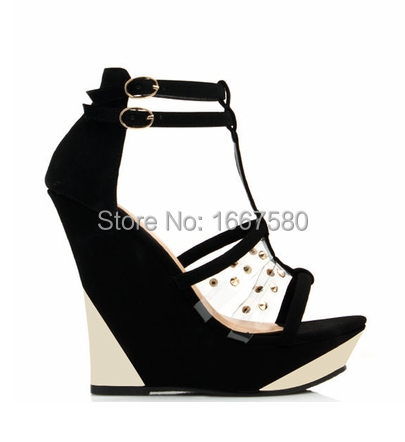 Cociy Ladies s Sandals T-Strap Open Toe High Heel Fashion Ankle Strap Outdoor Wedge Shoes Women<br><br>Aliexpress