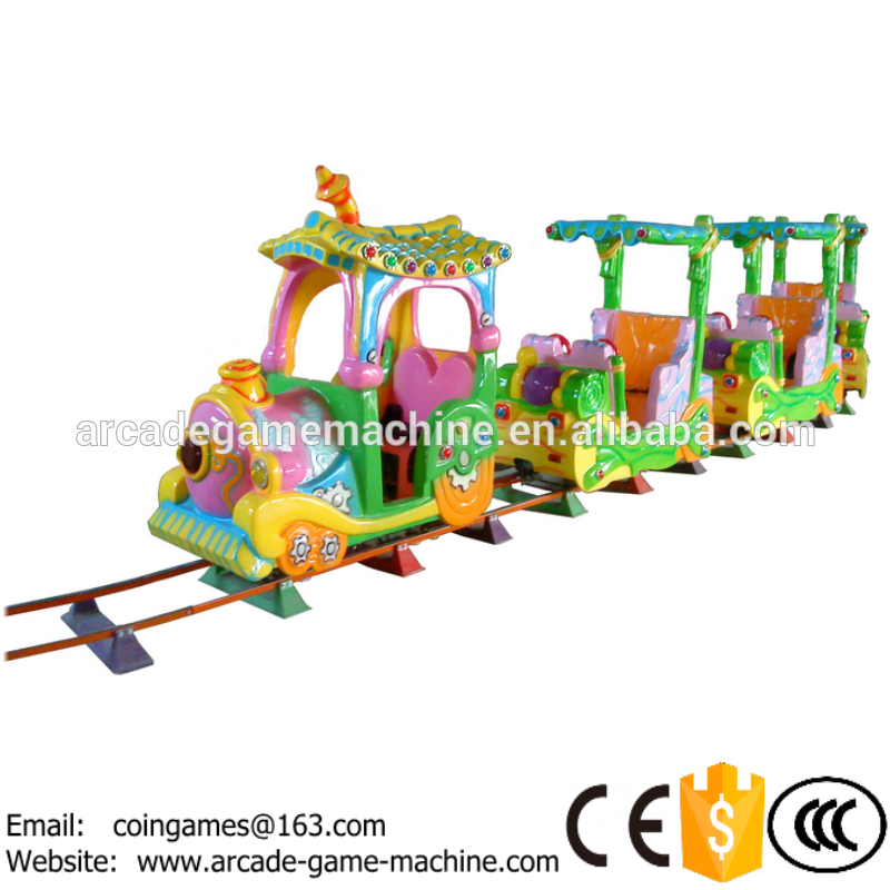 2016 New outdoor kiddie china amusement park equipment funfair toys kids electric train rides for sale(China (Mainland))