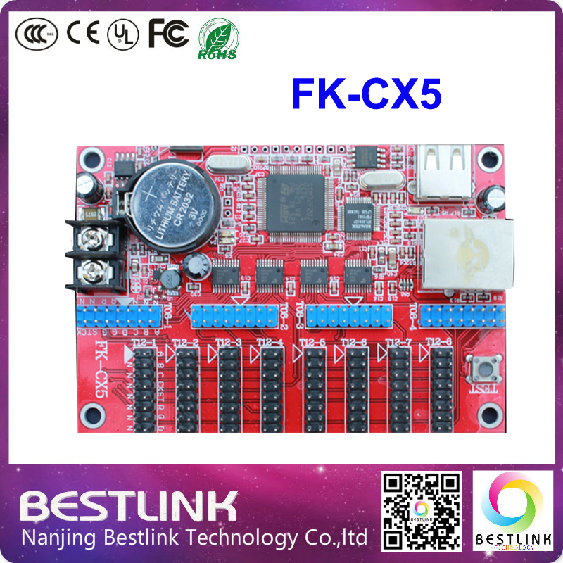 feikong FK-CX5 led controller card ethernet port LED control card 128*904 pixel p10 running text outdoor led display screen(China (Mainland))
