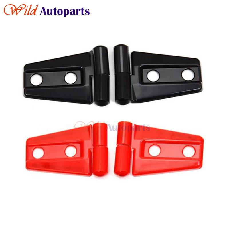 2pcs Sport Red & Black Engine Hood Hinge Cover Trim Accessories For Jeep Wrangler JK 2Door 4Door 2007-2014 2015(China (Mainland))