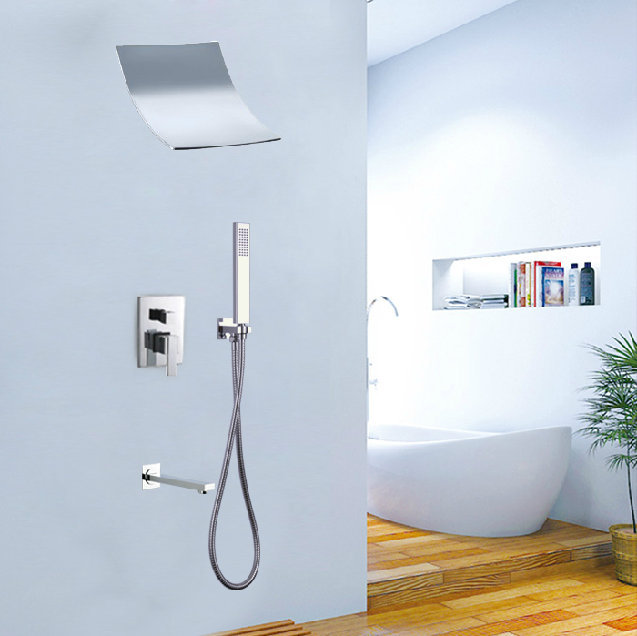 3-way shower set surfing type head mixer control valve panel Bathroom concealed wall mounted - Boy&Girl Show store