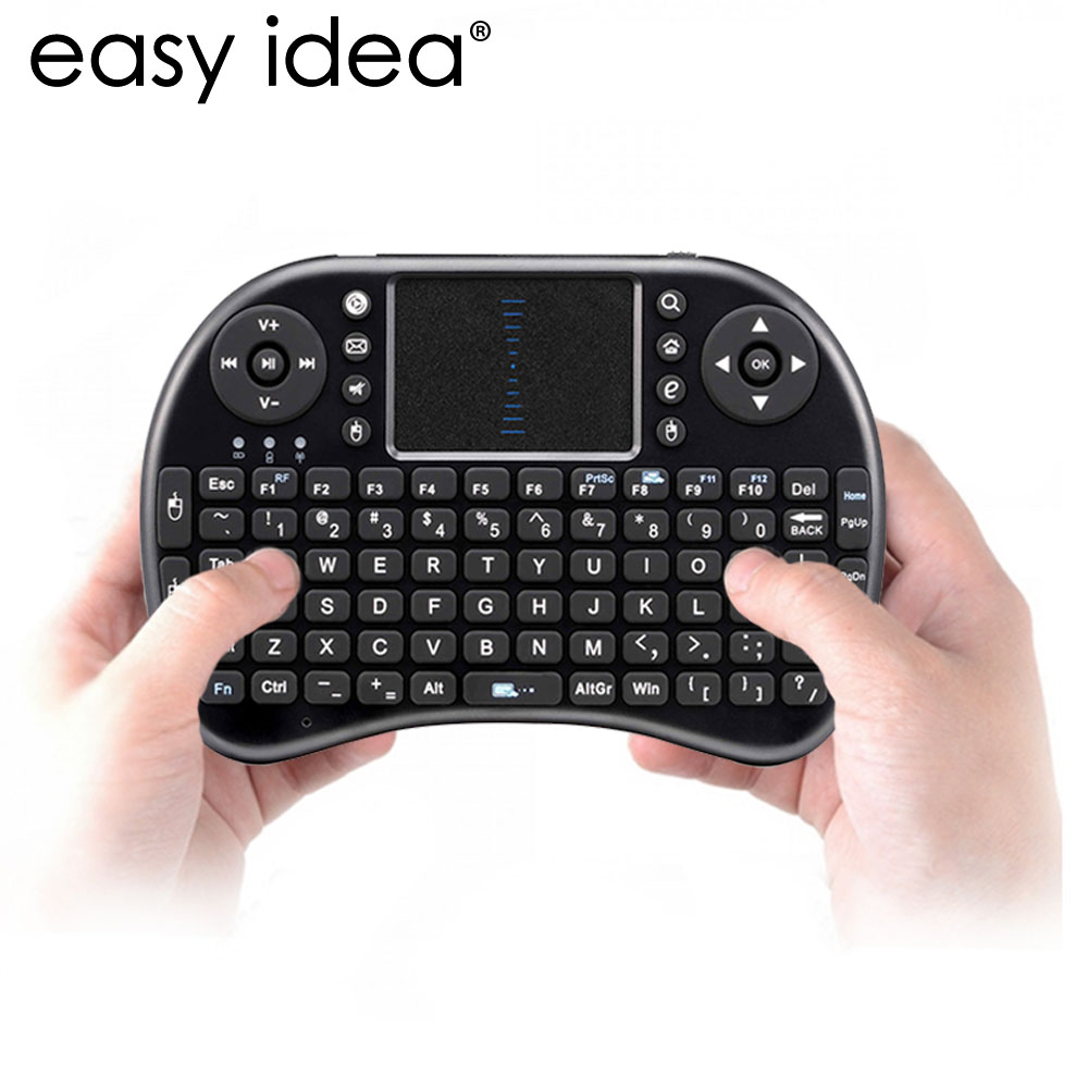 HOT Mini Wireless Keyboard Air Mouse i8 2.4G USB QWERTY Keyboard With Touchpad Teclado For PC Laptop Android TV BOX Xbox360(China (Mainland))
