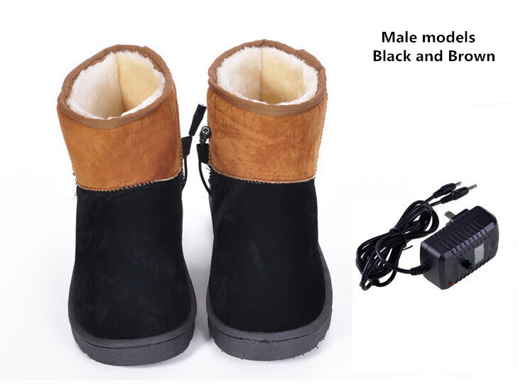 Thermostat electric charge men boots warm shoes man electric shoes warm feet treasure heating shoes fever Unplugged 411281(China (Mainland))