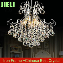 Free Shipping Modern Silvery Crystal Chandelier Light W330*H400mm Iron Chromed  Crystal Chandelier Lighting(China (Mainland))