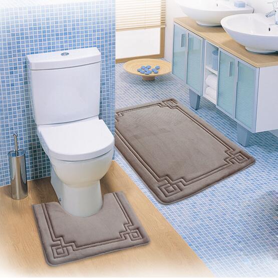 Super Soft Bathroom Toilet mats Anti-slip Bath Mat Free Shipping Washable(China (Mainland))