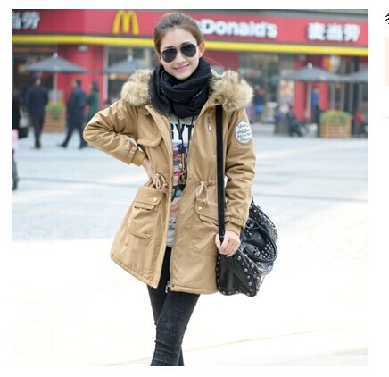 Thickening Long Winter Jacket Women Casual Fleece Fur Hooded Parka Cotton-padded Silm & Parkas coat plus size 4XL - YOU ME LOVE store