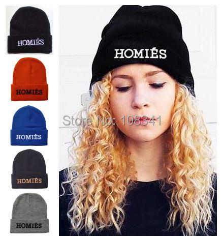 2015 Fashion Hiphop HOMIES Skullies Beanies Women Men Embroidery Winter Weaves DIY Hats Snapbacks Cap Fall Warm Hat - World's store