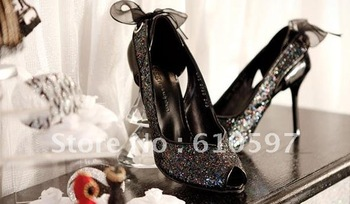 FREESHIPPING 2012 NEW ARRIVED  sequined wedding party High-heeled shoes ---offer OEM and wholesale service
