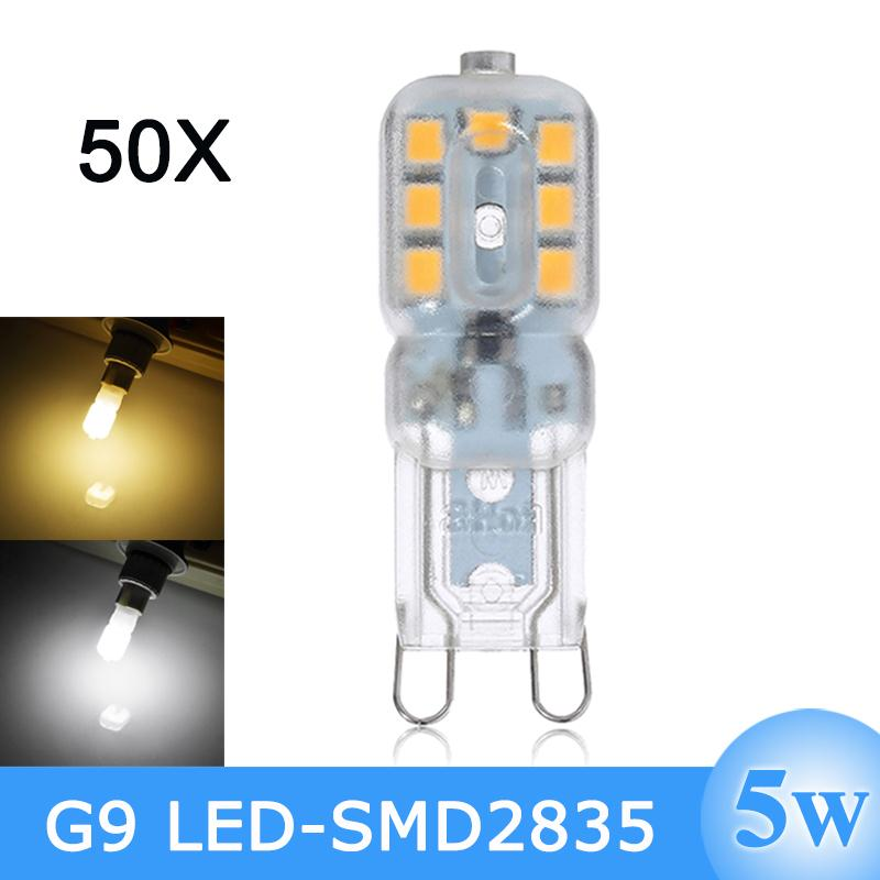 Здесь можно купить  Wholesale LED G9 Bulb 220V 240V 5W SMD2835 Bombillas G9 LED Lamps Light 360 Degree Energy Saving Lampada LED Free Shippin M  Свет и освещение