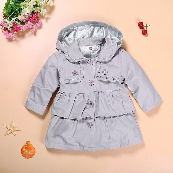 2016 Новый девочка теплая осень куртки Малышей Дети Девочка Принцесса длинные капюшоном пальто детей одевает пальто оптовая