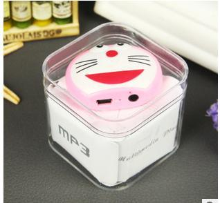 2014 new arrival cat MP3 music player mini size cartoon MP3 creative style wholesale 2014 hot sale special price sale(China (Mainland))