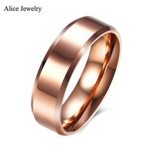 Buy TGR075-B Fashion Jewelry Rose Gold Color 316L Stainless Steel Ring Party /Engagement /Wedding Ring Men Women for $4.99 in AliExpress store