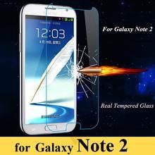 Премиум 0.3 мм закаленное стекло фильм взрывозащищенный протектор для Samsung Galaxy Note 2 N7100 II N7105 защитная пленка