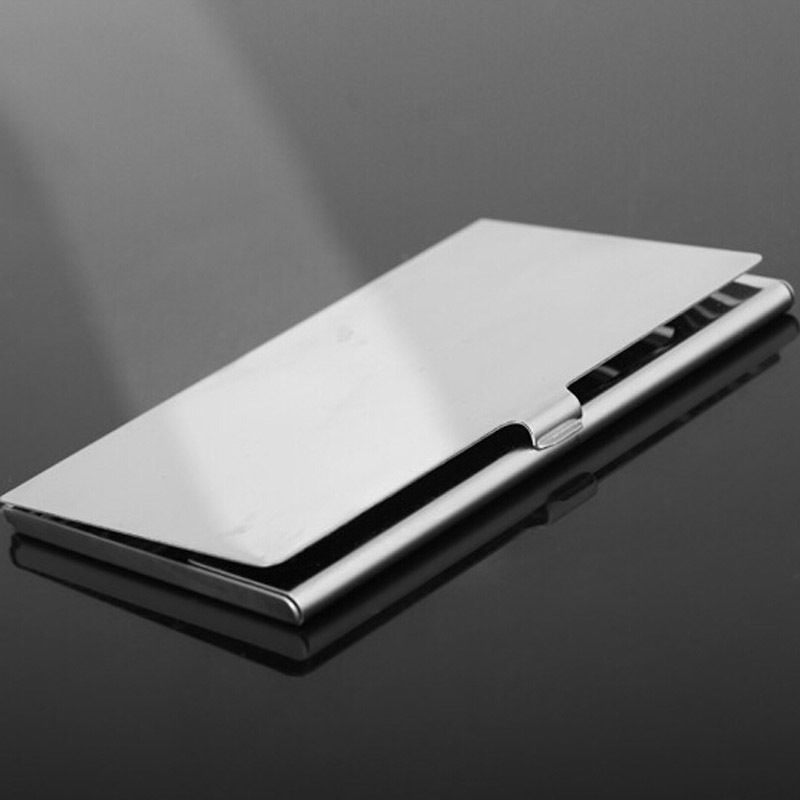 1 pc Waterproof Business Card Storage Box Aluminum Metal Business ID Credit Card Holder Case Hot Selling(China (Mainland))