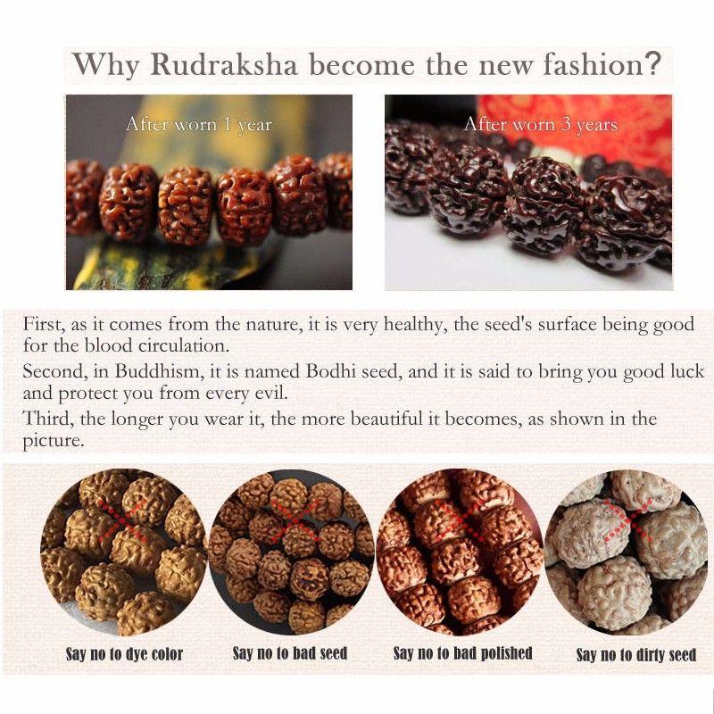 New Trend Rudraksha Seed Beads Traditional Chinese 925Silver Lotus&Fish Charm Bracelet For Women Ethnic Elegant Yoga OM Jewelry