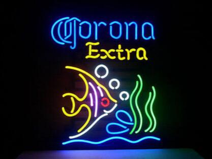 "New Corona Tropical Fish Light Size:22""X18"" Glass Neon Sign Beer Bar Pub Arts Crsfts Gifts Sign(China (Mainland))"