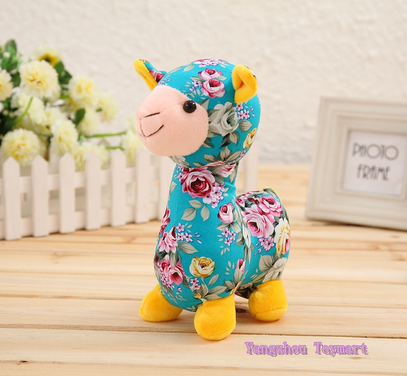 30CM Colorful Stuffed Toy Sheep Adorable 4 Colors Trendy Pattern Soft Toy Sheeps Cute Plush Lamb(China (Mainland))