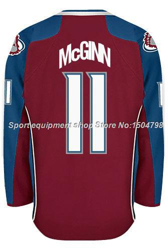 Cheap Men's Colorado Avalanche Ice Hockey Jerseys Jamie McGinn #11 Jersey (HOME RED),Authentic Jamie McGinn Jersey,Size S-3XL
